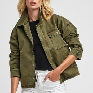 Hudson Jeans Olive Green Route Field Jacket